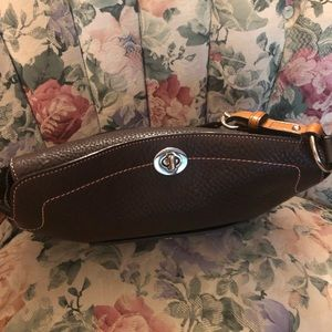 Coach Bags - Brown and Pink Leather Coach Handbag